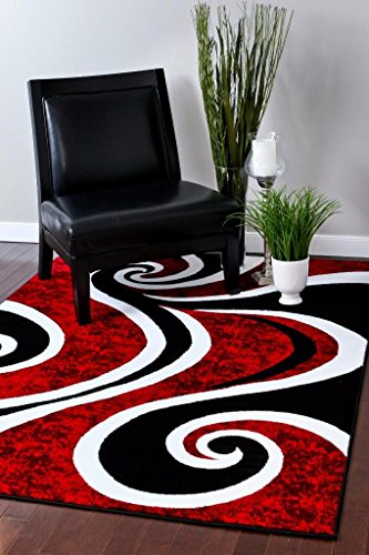 0327 Red 8'x10' Area Rug Carpet Large New