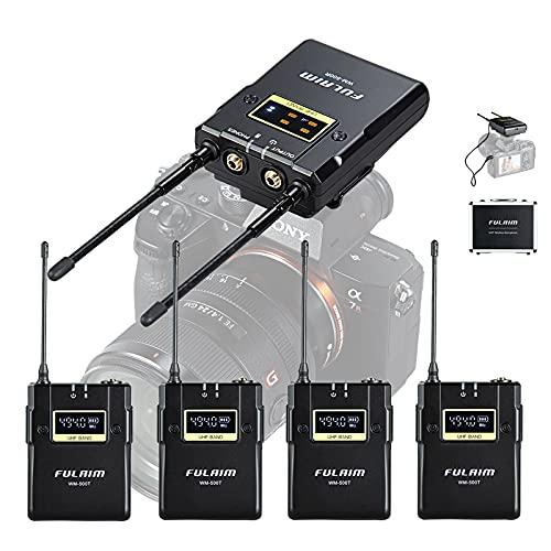 FULAIM WM500 Sistema de Micrófono Lavalier Inalámbrico, UHF Micrófono de...