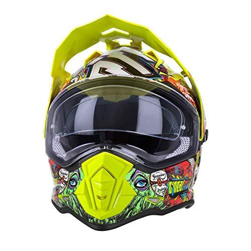 O'Neal | Casco de motocicleta | Moto Enduro | Aberturas de ventilación para un máximo flujo de aire y refrigeración visera solar integrada | Sierra Helmet Crank | Adultos | Multi | Talla XXL