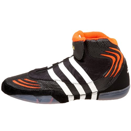 adidas Men's AdiSTRIKE John Smith Wrestling Shoe,Black.Infrared/White,14 M US