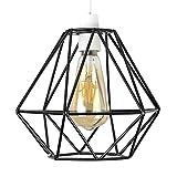 MiniSun – Retro Lampenschirm aus Metall im offenen Korbdesign mit schwarzem Finish – für Hänge  und Pendelleuchte