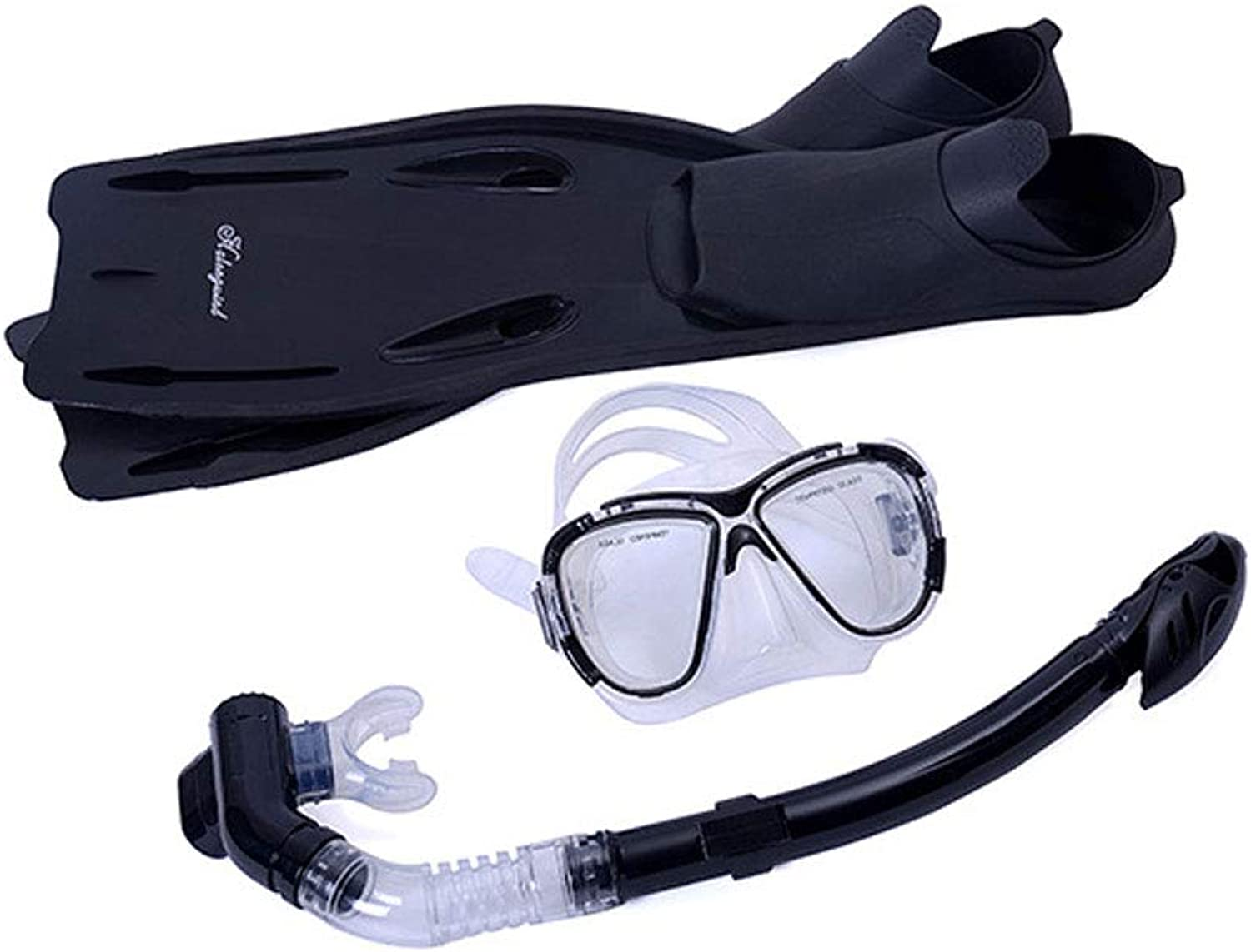 ZEGEGE Snorkeling Sambo PVC waterproof goggles Dry snorkels Foot and ankle equipment