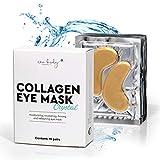 AKTION new body® Collagen Augenpads 24K gegen Augenringe - 30 Eye Pads mit Anti Falten Wirkung - Augenmaske gegen Schwellungen & Tränensäcke unter den Augen