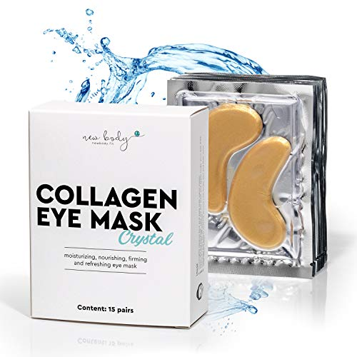 AKTION new body® Collagen Augenpads 24K gegen Augenringe - 30 Eye Pads mit Anti Falten Wirkung - Augenmaske gegen Schwellungen & Tränensäcke unter den Augen