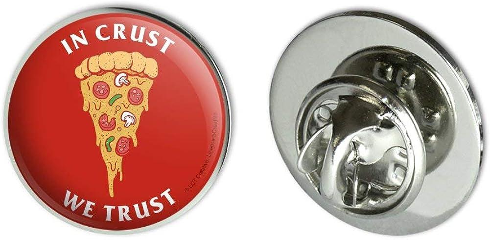 GRAPHICS & MORE in Crust We Trust Pizza Funny Humor Metal 0.75