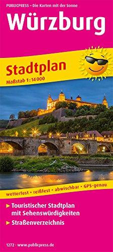 Würzburg: Touristischer Stadtplan mit Sehenswürdigkeiten und Straßenverzeichnis. 1:14000 (Stadtplan: SP)