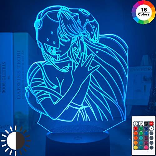 Acryl Led Nachtlicht Lampe Anime Elfen Lied Lucy Nyu Figur Schreibtisch 3D Lampe für Kinder Kinderzimmer dekorative Nachtlicht Manga Geschenk