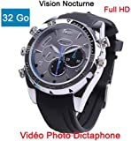 Cyber Express Electronics Montre Mini Caméra Espion 32 GO Full HD 1920x1080 Vision...