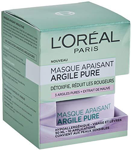 L'Oréal Paris – Masque Apaisant Pour Le Visage – Argile Pure – 50 ml