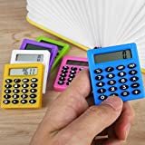 JWBOSS Plastic Digits LCD Display Pocket Cartoon Pequeño viaje Mini Handy Calculator,
