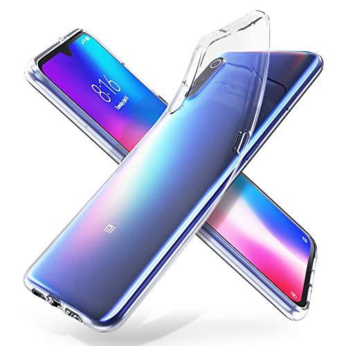 """ORNARTO Durchsichtig Kompatibel mit Mi 9 Hülle, Transparent TPU Flexible Silikon Handyhülle Schutzhülle Case für Xiaomi Mi 9(2019) 6,39""""-Klar"""
