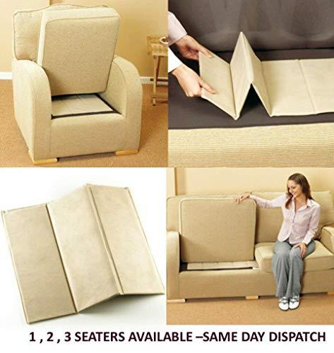 Modernage MLL - Tablas de rejuvenecimiento de asiento para sofá de 1-2-3 plazas, elevador de asiento flojo (1 plaza)