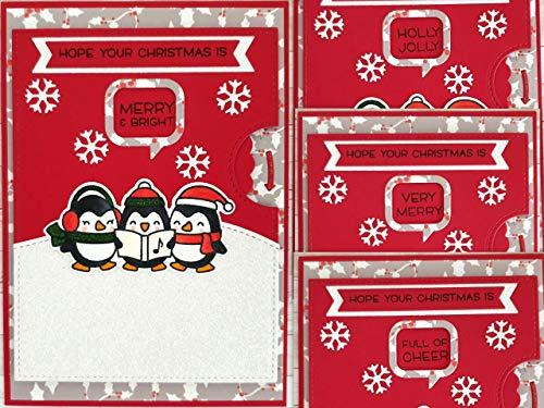 Weihnachtskarte interaktive handgemachte Karte mit Drehrad, reveal wheel, mit Umschlag A6
