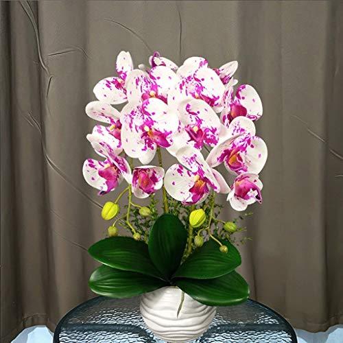 Kunstmatige Bloemen Phalaenopsis Orchid Bonsai met Keramiek Vaas, Fake bloem Silk Butterfly Orchidee van de mot Decoratie Ornament (Color : C)