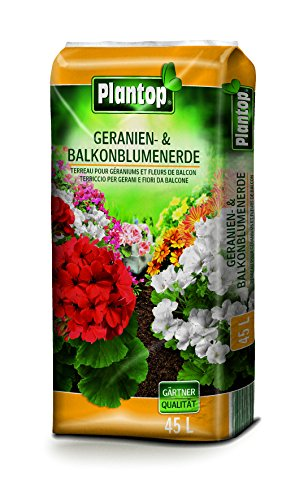 Plantop Geranienerde & Balkonblumenerde 45 Liter Blumenerde Balkonblumen Erde
