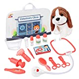 Product Image of the UNIH Pretend Play Set, 16PCS Pet Doctor Kit for Kids, Pet Care Play Set with...