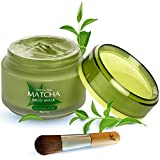 Green Tea Matcha Facial Mud Mask, Removes Blackheads, Reduces Wrinkles, Nourishing, Moisturizing, Improves Overall Complexion, Best Antioxidant, For Younger Looking Skin, All Skin Types, Facial Pore Minimizer