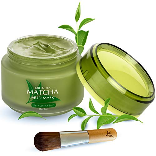 Green Tea Matcha Facial Mud Mask, Removes Blackheads, Reduces Wrinkles, Nourishing, Moisturizing, Hydrating, Improves Overall Complexion, Best Antioxidant, For Younger Looking Skin, All Skin Types, Facial Pore Minimizer