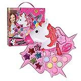 QYHSS Kit Maquillaje Conjunto Cosméticos Moda para Niños, Reales No Tóxicos Seguridad, con Esmalte UñAs Brillo Labios Y Más, para Regalo Regalo Cumpleaños Princesa Niñas Pequeñas