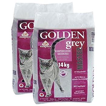 Golden Grey Master Litière pour chat avec senteur talc pour bébé 2x 14kg