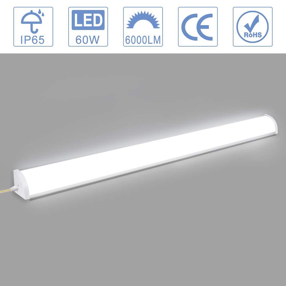 XYD 4 Packs 10W 30CM LED Batten Tubes T10 6000K Tube Lamp Wall Lights for Factories Workshop Bathroom Hallway Bedroom Kitchen Supermarket