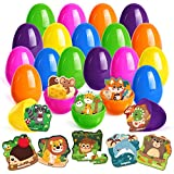 GMAOPHY 24 Pack Easter Eggs Fillers with Animal Jigsaw Puzzles, Easter Goodie Gifts for Toddlers/Kids/Boys/Girls, Ideal Gift for Easter Eggs Hunt & Easter Basket Stuffers & Easter Party Favor
