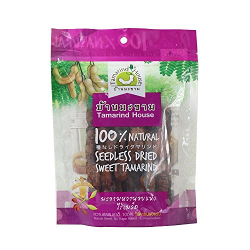 Seedless Dried Sweet Tamarind Snack Natural Real Herbal Fruit Net Wt 90 G ( 3.17 Oz) Tamarind-house Brand X 2 Bags