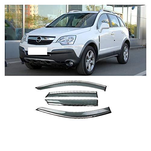 LWLD Windabweiser Für Opel Antara 2008-2013 Kunststofffenster Visier-Entlüftungsschirme Sun Rain Deflektor Guard Autofenster Visier (Farbe : Klar)