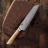 Cuchillo de cocina Chef Cuchillos Gyuto Santoku Cleaver Paring Steak Cortar Utilidad Bloqueo de salmón 67-capa Acero V Gold 10 Damasco (Color : 8inch chef knife01)