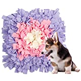 Schnüffeln Teppich Hunde Intelligenzspielzeug Waschbar Faltbar Geruch Rutschfestes Hundespielzeug Schnüffeln Spielzeug Intelligenz Hundespielzeug Schnüffeln Spielzeug45 x 45cm(Rosa lila Blütenknospe)