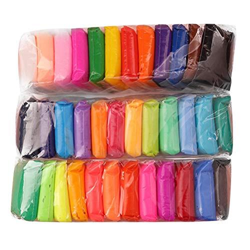 Supvox Pâte à modeler en cristal super-léger en argile à séchage à l'air 36 couleurs