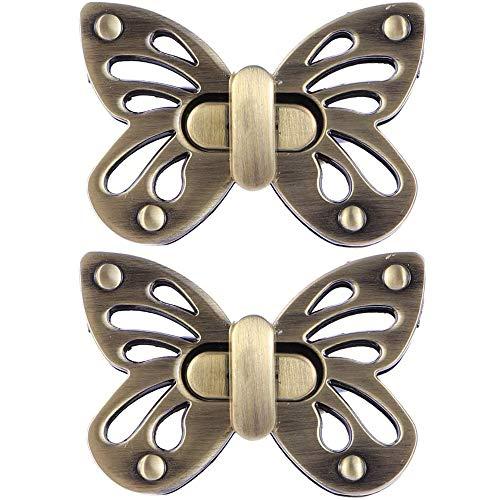 Lhbfcy Cerraduras De Giro De Metal Cierres Para Bolsos Carteras Locks Twist Turn Hardware Broches De Bloqueo Cerradura Accesorios Cierre Decorativa Para Bricolaje Bolso De Hombro (Bronce)
