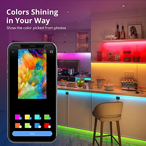 Govee Rgbic Led Strip Lights 16.4 Feet, App Control, for Bedroom, Kitchen, Room 2