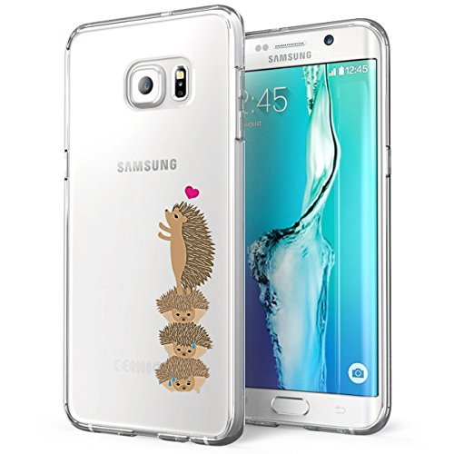 Samsung Galaxy S6 Edge Plus Custodia TPU Natura Cute Animale Cover Samsung Galaxy S6 Edge Plus Popolari Case Anti-Scratch Gel Silicone Custodia per Samsung Galaxy S6 Edge Plus (Riccio)