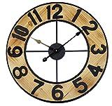 Technoline Reloj de Pared analógico Grande WT1610, technoline, Cuarzo, Madera, XXL, diámetro de 60 cm