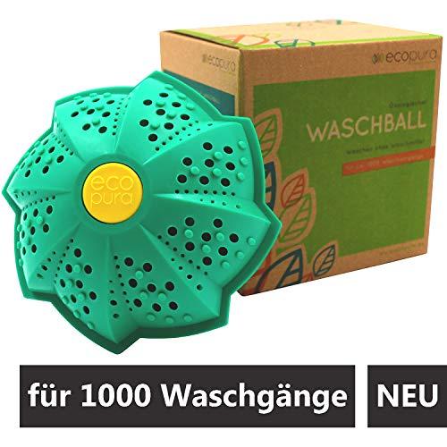 ecopura® Öko Waschball - Bio Waschkugel zum Waschen ohne Waschmittel - Kleidung reinigen mit der Kraft von 4 Mineralien und Magneten - BPA-frei, Nachhaltig, Allergiker- und Umweltfreundlich