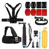 SHOOT 7in1 Outdoor-Reise-Zubehör-Kit für GoPro 6/5/4/3+/3/2 SJ4000 SJ5000 SJ6000 Kamera Zubehör Set
