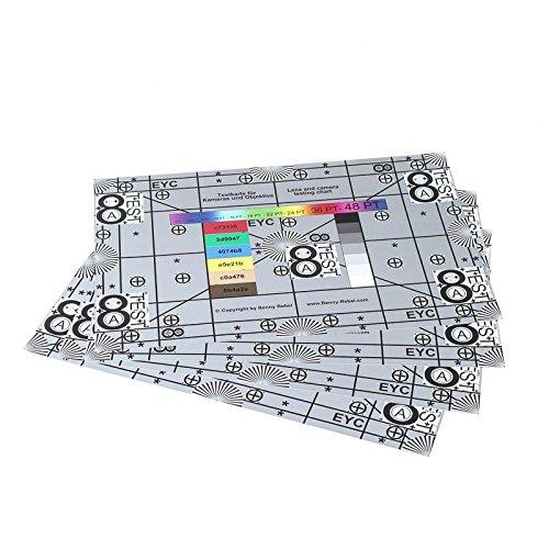 Enjoyyourcamera 4er-Set Testkarte (Testtafel, Test Chart) zum Prüfen von Kamera und Objektiv - 4X 30 x 45 cm = 60 x 90 cm - ideal zum Testen von eher weitwinkeligen Objektiven (50mm - 24mm)