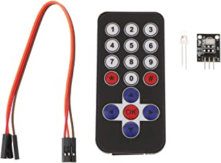 P Prettyia IR受信モジュール ボード 赤外線リモコン DIYキット Arduino用