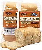 Keto Bread, Low Carb Bread, Zero Net Carbs, Soy Free, Taste Guaranteed - Plain (Pack of 2 Keto Breads) | ThinSlim Foods