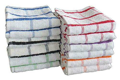 Thuis stijl JUMBO TERRY thee TOWEL EXTRA GROTE KITCHEN DISH CLOTH CHECK 100% KATON 12pc PACK