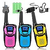 Topsung Walkie Talkie para niños, fácil de usar, walkie-talkie, con bolsa de almacenamiento, a partir de 3, 5, 8 años, para niñas, regalo de cumpleaños