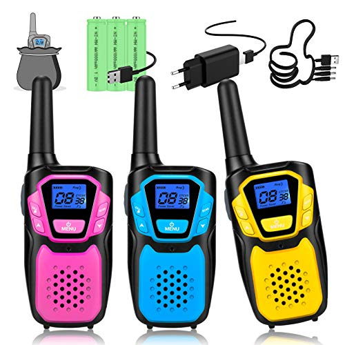 Topsung walkie Talkie Kinder, Einfache Bedienung spielzeug walki talki mit Aufbewahrungstasche AB 3 5 8 Jahre mädchen Junge, Geschenk geburtstagsgeschenk weihnachtsgeschenk