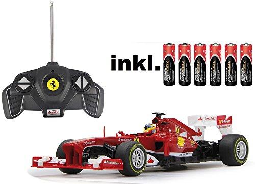 BUSDUGA RC Ferrari F1 1:18 Rennwagen ferngesteuert Version 2013 - inkl. Batterien - Lizenz-Nachbau*