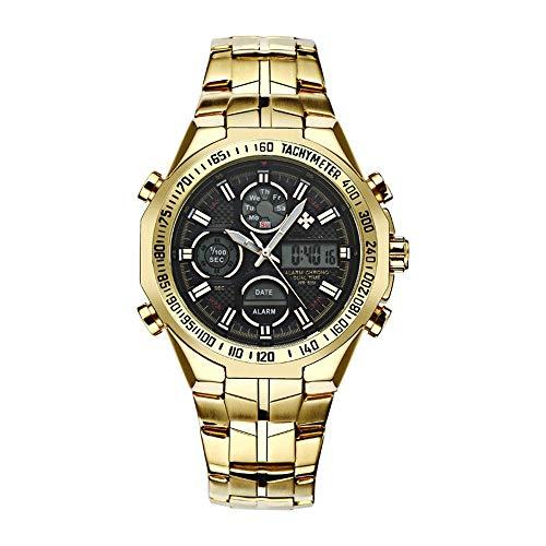 AZZ waterdichte elektronische multifunctionele horloge buitenshuis, digitale sporthorloges voor heren, wordt geleverd met stopwatch, alarm, timer, LED-licht, chronograaf en kalender