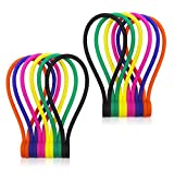 SMART&COOL 7.16''   12 Pack Reusable Silicone Magnetic Cable Ties/Magnetic Twist Ties for Bundling and Organizing, Holding Stuff, Book Markers, Fridge Magnets, or Just for Fun, 6 Colors