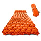 ZOOOBELIVES Ultralight Sleeping Pad with Built-in Pillow, Inflatable Camping Mattress for...