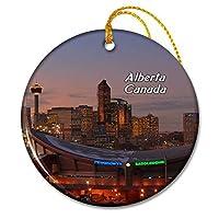 カナダアルバータスカイラインカルガリークリスマスオーナメントセラミックシート旅行お土産ギフト