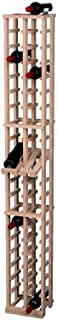 Wine Cellar Innovations Traditional Premium Redwood 2 Column Wine Rack with Display Row, Unstained