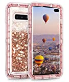 Coolden Case for Samsung S10 Plus Case Glitter Heavy Duty